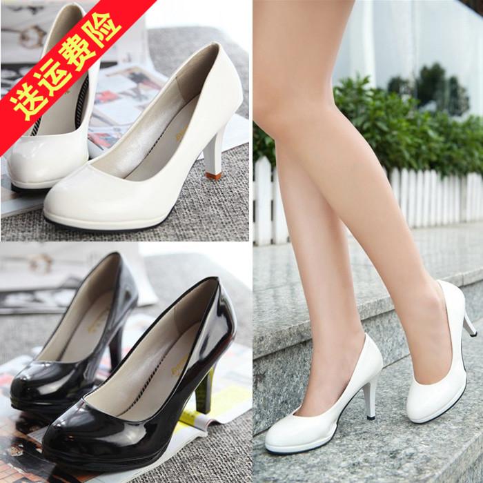 高跟单鞋防水台3-5cm