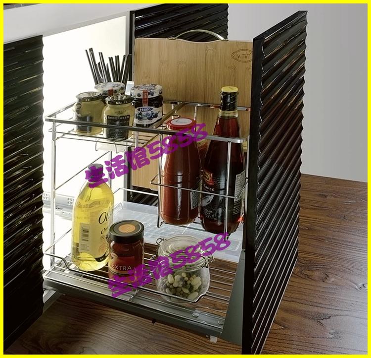 阻尼 blum 不銹鋼實心方鋼調味拉籃刃架進口百隆 304 豪華廚房櫥柜