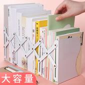 可伸缩书立架折叠读书架夹书靠书挡书架简易学生创意高中生桌上