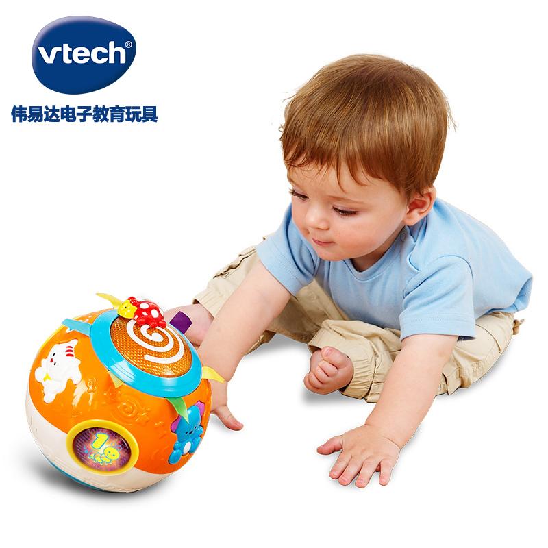 VTech伟易达电动欢乐转转球 婴幼儿学爬玩具宝宝学爬行6-12个月