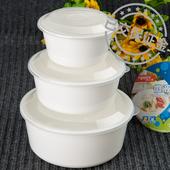 家用微波炉加热专用器皿蒸菜蒸蛋用品套装米饭饭盒餐具大中小圆形