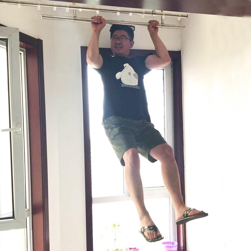 阳台固定式晾衣杆套餐不锈钢管晒衣架加厚304顶装吊座挂衣杆