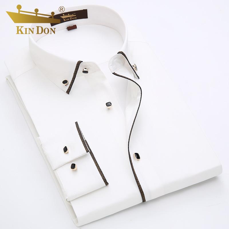 领扣长袖衬衫