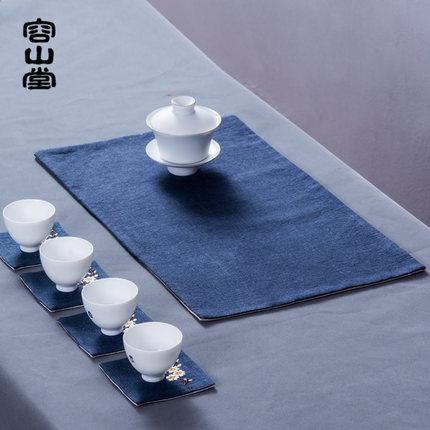 容山堂 和幸茶席麻布禅意竹席茶巾茶壶垫茶布茶帘功夫茶具配件