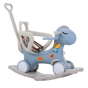 儿童摇马摇椅两用带音乐多功能小推车婴儿塑料玩具宝宝木马摇摇马