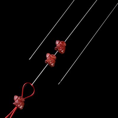 文玩开口细长穿珠钩针DIY手工串佛珠引线针珠宝针工具穿线水晶针