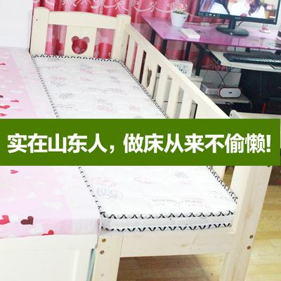 包邮 定制拼接床加宽加长床实木儿童床松木幼儿床加护栏床头小床今日特惠