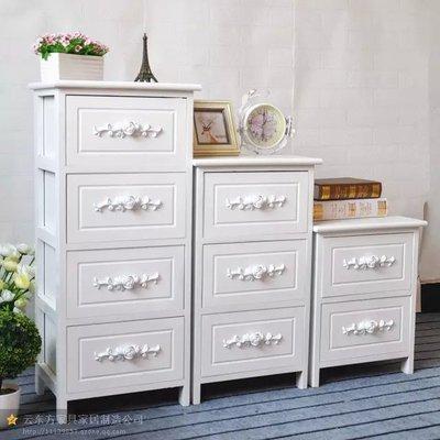 韩式田园实木带锁床头柜编藤抽屉简易储物小柜子卧室迷你夹缝柜哪个牌子好