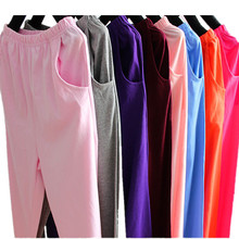 Female pajama pants household pants pure cotton spring and autumn thin, loose cotton comfortable exercise morning straight tube high waist trousers