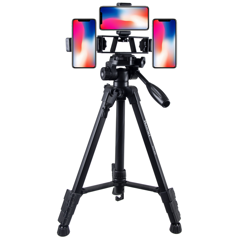 手机相机自拍直播三脚角架录像便携旅行落地支架 多功能蓝牙遥控