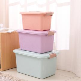 收纳箱塑料整理箱加盖手提储物箱玩具零食收纳盒储物箱三件套图片