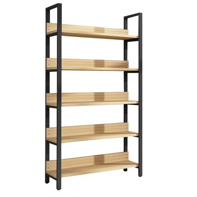 货架铁艺置物架落地多层收纳架简约书架家用经济型卧室实木储物架