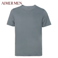 爱慕先生男士短袖T恤棉质无痕随心裁圆领薄款打底上衣半袖81623
