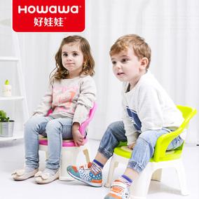 好娃娃儿童加厚靠背小椅子宝宝凳子卡通塑料叫叫椅婴儿安全小板凳