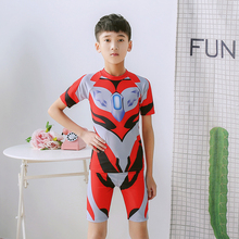 Jed Ottoman Boys'and Children's Split Swimming Suits Small, Middle and Big Children's Large Swimming Equipments 5-14 Years Old