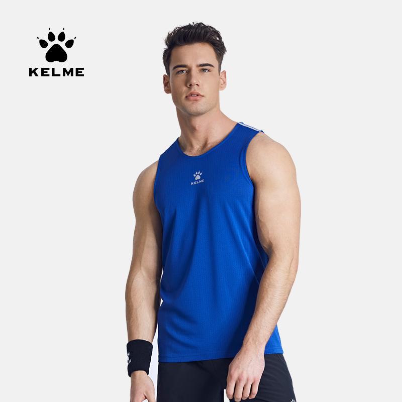 KELME卡尔美 运动背心男夏季透气速干无袖跑步训练健身T恤篮球服