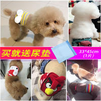 Dog courtesy with male dog physiological pants diaper pet safety pants health pants estrus anti-harassment small dog supplies