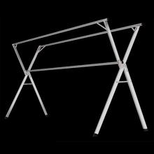 奥致不锈钢晾衣架落地折叠X型双杆式晾衣杆阳台室内伸缩晒挂衣架