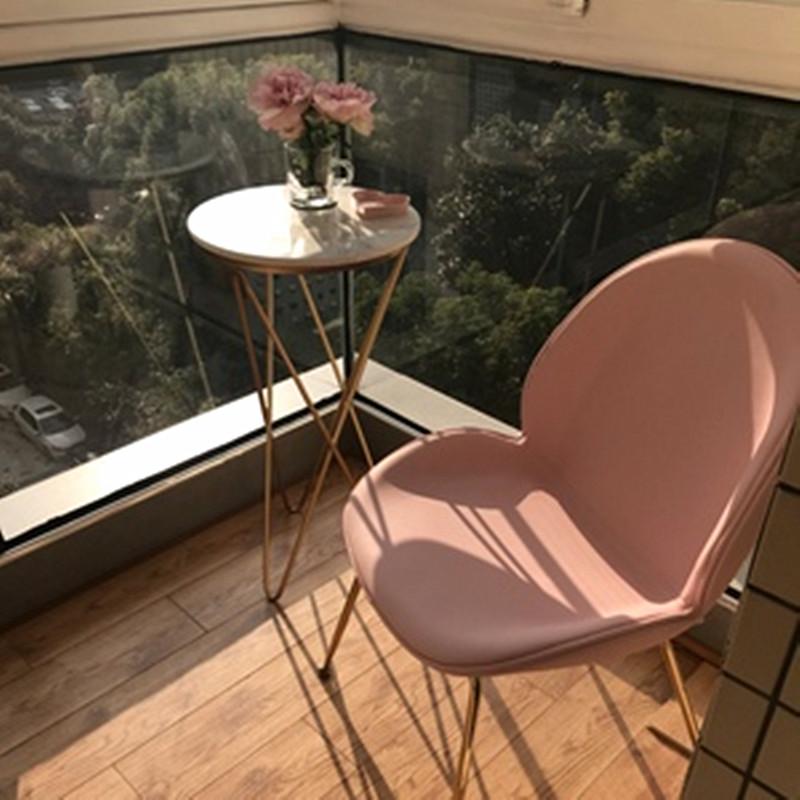 北欧风情金属甲壳虫餐椅会所售楼处创意设计师贝壳椅 现代轻奢椅