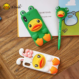 B.Duck Little Yellow Duck iPhone X/Xs Silicone Phone Case Cute Cartoon All Inclusive Drop Phone Case