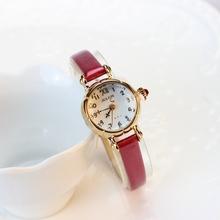 聚利时julius时尚复古迷你手表女学生红色小表盘细带防水石英表潮