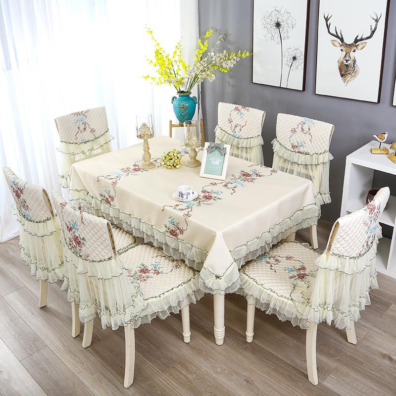 田园台布餐椅套