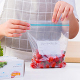 Japan self-sealed fresh bag food bag small household sealed bag thickened refrigerator fruit frozen large compact bag
