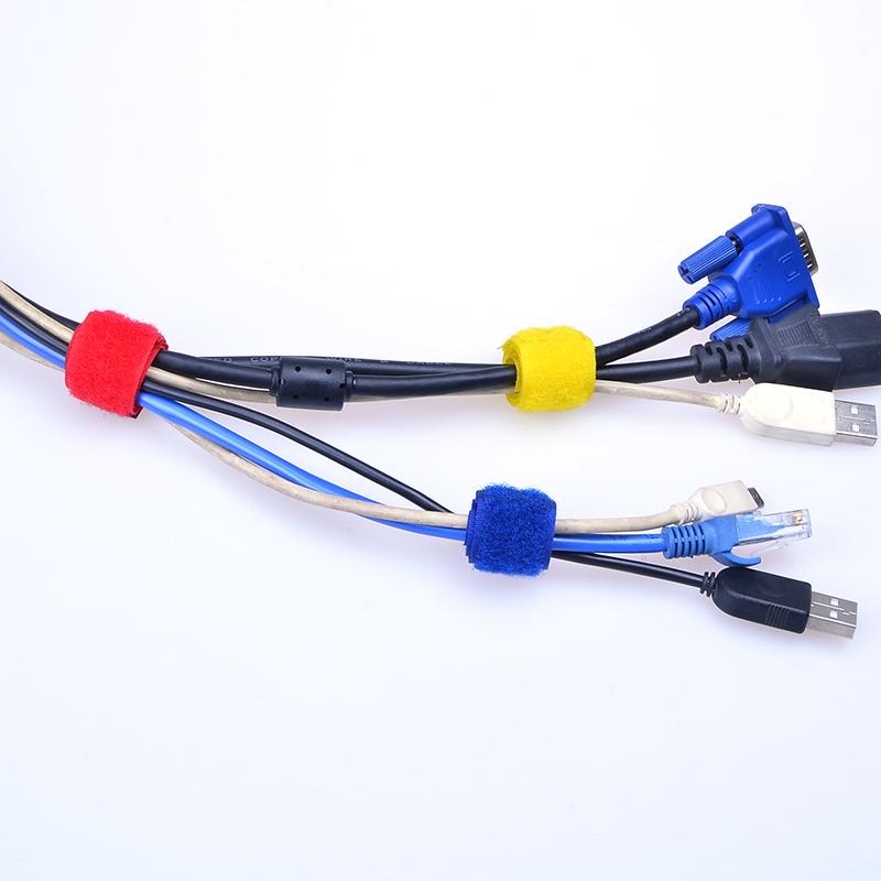 km桌面网线理线带魔术贴机箱电话线电线收纳带绕线器理线器绑线带