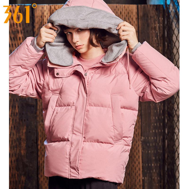 361度女裝羽絨服女2018冬季新款短款運動服361保暖加厚運動外套Y