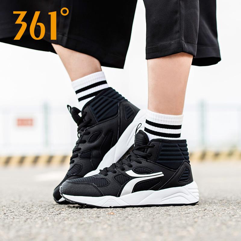 361度女鞋高帮运动鞋加绒女冬季361加厚保暖防滑轻便休闲跑步鞋Y