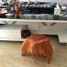 天然实木墩子创意根雕凳子底座花架杉木凳子树墩茶几配套定制