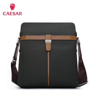 凯撒大帝男包商务公文包大容量单肩包休闲斜挎包时尚潮流正品挎包