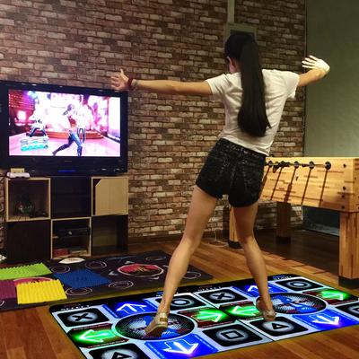 舞霸王跳舞毯双人电视电脑两用瑜伽体感发光加厚跳舞机家用 包邮品牌官网