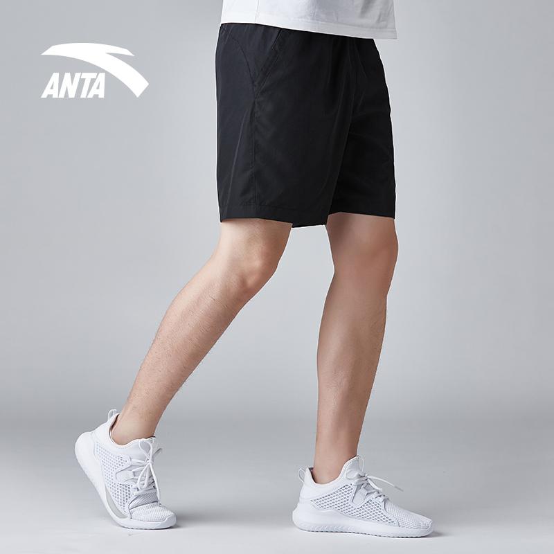 安踏男裤运动短裤2018夏季新款速干透气休闲五分裤健身跑步短裤男