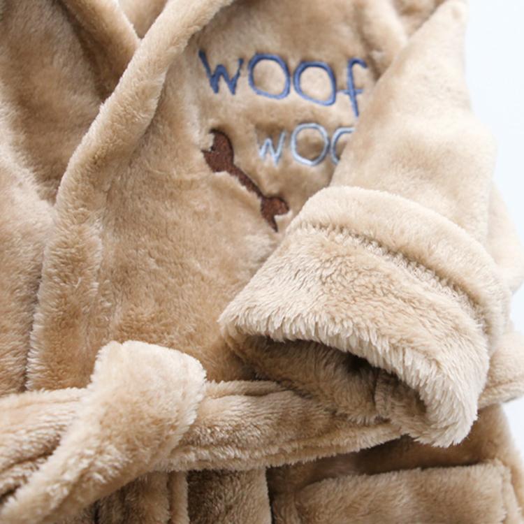 珊瑚绒儿童浴袍动物卡通宝宝睡衣睡袍带帽居家服秋冬宝宝浴衣保暖