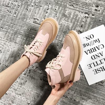 女士复古短靴