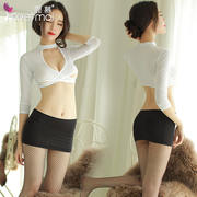 Sexy fun inside clothes uniform temptation three-point supplies midnight charm women's passion suit Sao nurse clothes