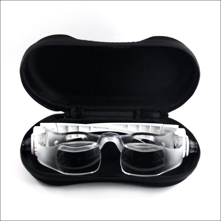 头戴放大镜手机眼镜放大镜雕刻阅读维修钟放大眼镜表修理倍数可调