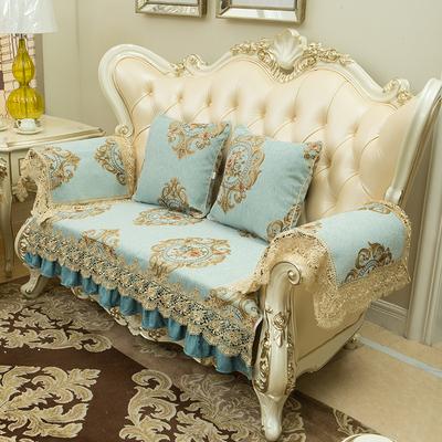 欧式沙发垫高档奢华雪尼尔防滑四季通用真皮坐套布艺123组合垫子