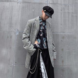 Sheep original dark line trend loose long-sleeved suit men's casual lapel suit jacket Yayan handsome SF57
