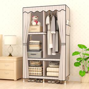 儿童简易布衣柜实木组装简约现代经济型小号单人宿舍衣橱宝宝小孩