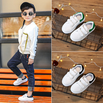 女童休闲鞋新款潮防滑版小童百搭幼儿园小白鞋带灯男童板鞋