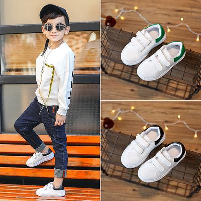 2018春秋儿童休闲鞋女童小白鞋韩版男童运动鞋单鞋白色鞋宝宝板鞋