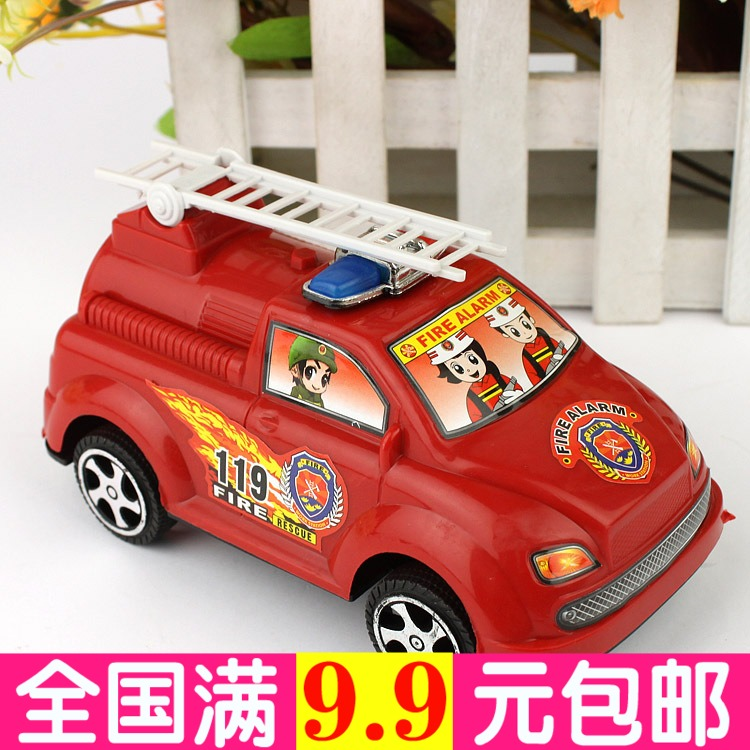 Pull fire truck creative toy car kindergarten school gifts prizes stall Night market small