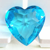 Large Acrylic Crystal Clear Transparent Hole-Free Love Heart Ornament Children's Gem Toys Reward Children's Gifts