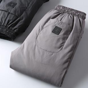 限定款!強烈推薦 戶外防風防水面料 冬季御寒保暖羽絨褲男外穿