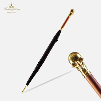 萨曼莎骷髅头镀金雨伞创意男女士长柄晴雨伞复古个性英伦商务潮流