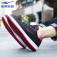 Hongxing Erke board shoes men 2019 spring leather casual shoes white men's sports shoes red star men's shoes