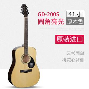 SAMICK三益GD200S单板吉他民谣电箱木吉他41寸初学者入门弹