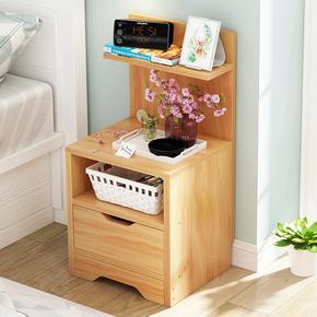 床头柜 简约现代床边小柜子组装储物柜简易仿实木 经济型收纳柜子